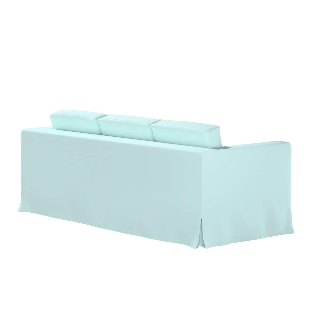 Pokrowiec na sofę Karlanda 3-osobową nierozkładaną, długi w kolekcji Cotton Panama, tkanina: 702-10