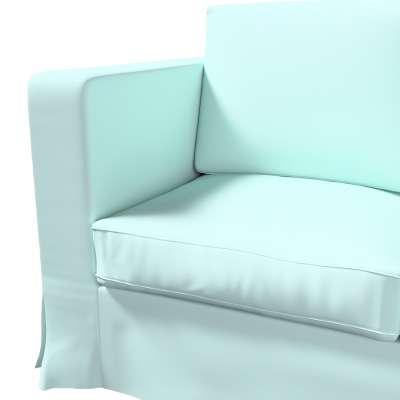 Bezug für Karlanda 3-Sitzer Sofa nicht ausklappbar, lang von der Kollektion Cotton Panama, Stoff: 702-10