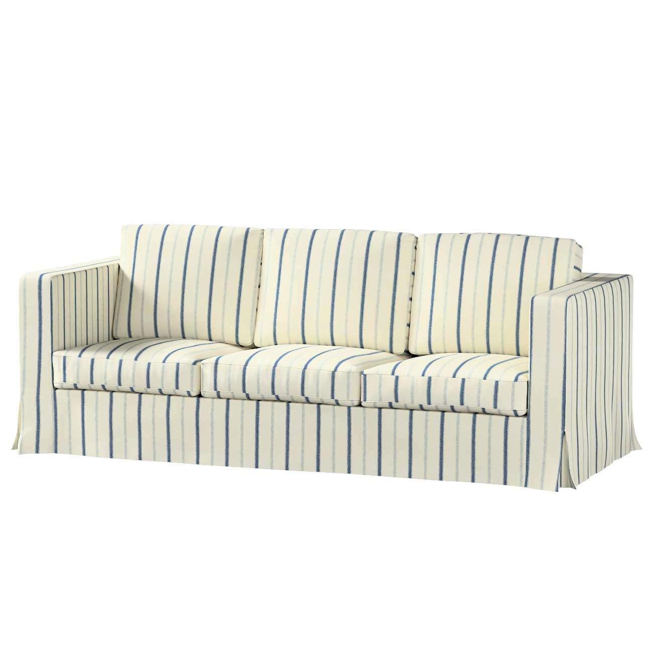 Potah na pohovku IKEA  Karlanda 3-místná nerozkládací, dlouhý pohovka Karlanda 3-os v kolekci Avignon, látka: 129-66
