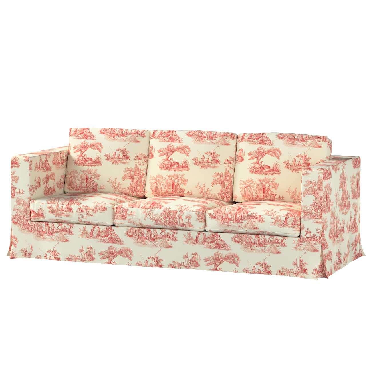 Karlanda klädsel 3-sits soffa - lång i kollektionen Avinon, Tyg: 132-15