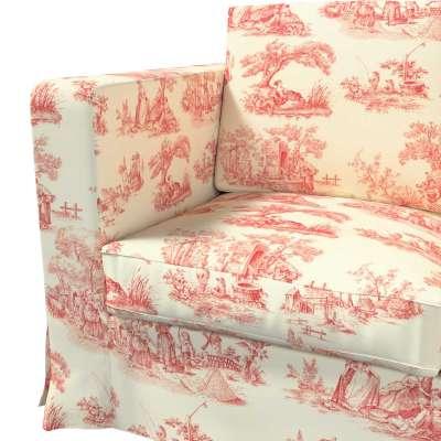 Karlanda 3-Sitzer Sofabezug nicht ausklappbar lang von der Kollektion Avinon, Stoff: 132-15