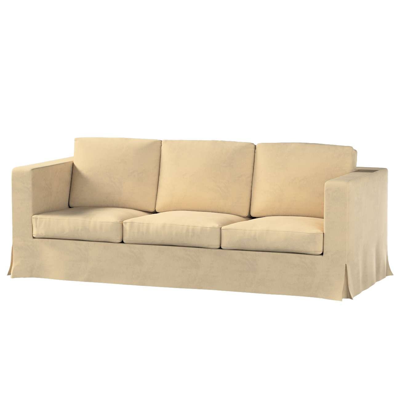 Pokrowiec na sofę Karlanda 3-osobową nierozkładaną, długi w kolekcji Living II, tkanina: 160-82
