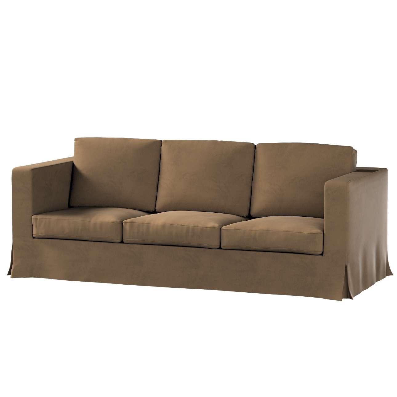 Pokrowiec na sofę Karlanda 3-osobową nierozkładaną, długi w kolekcji Living II, tkanina: 160-94