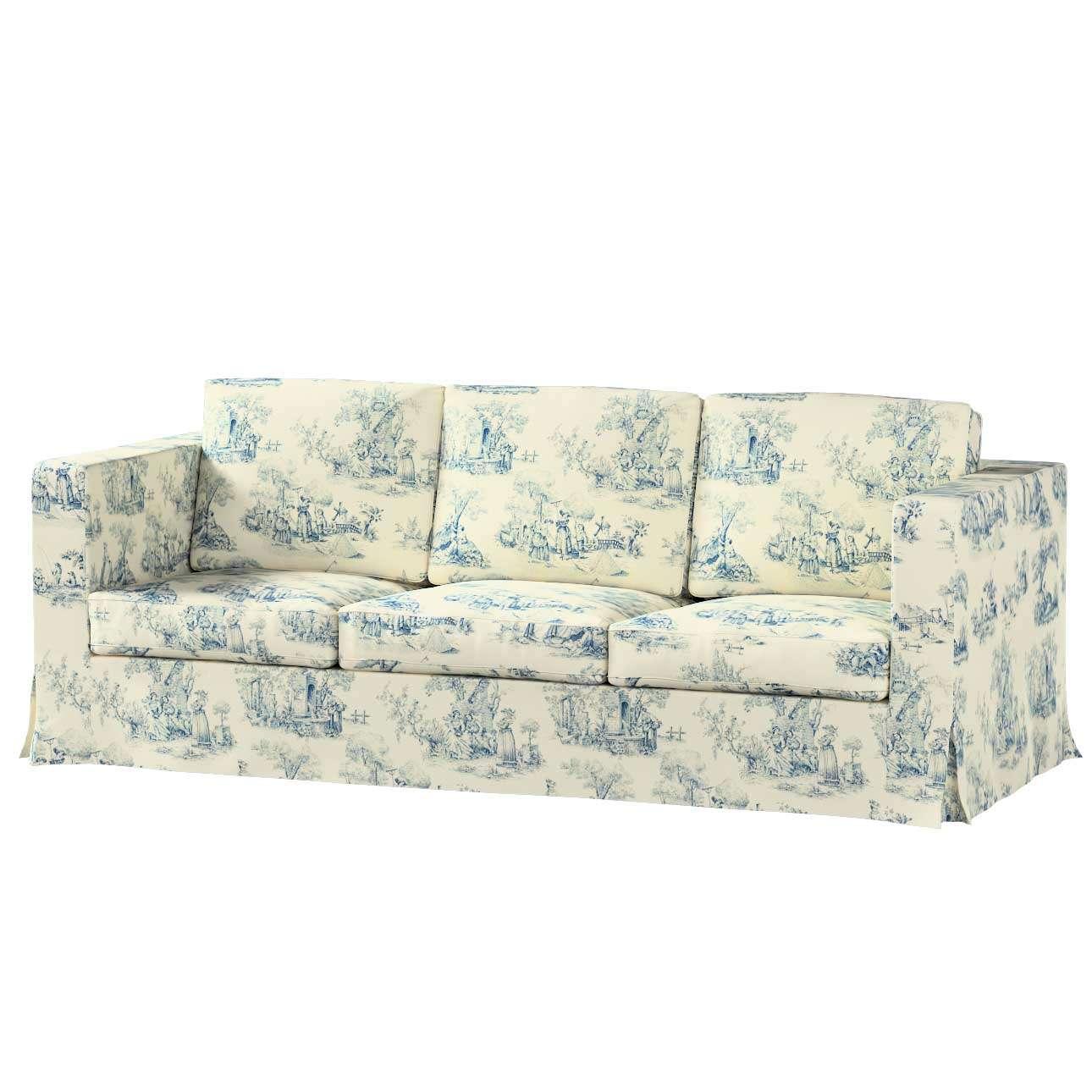 Karlanda klädsel 3-sits soffa - lång i kollektionen Avinon, Tyg: 132-66