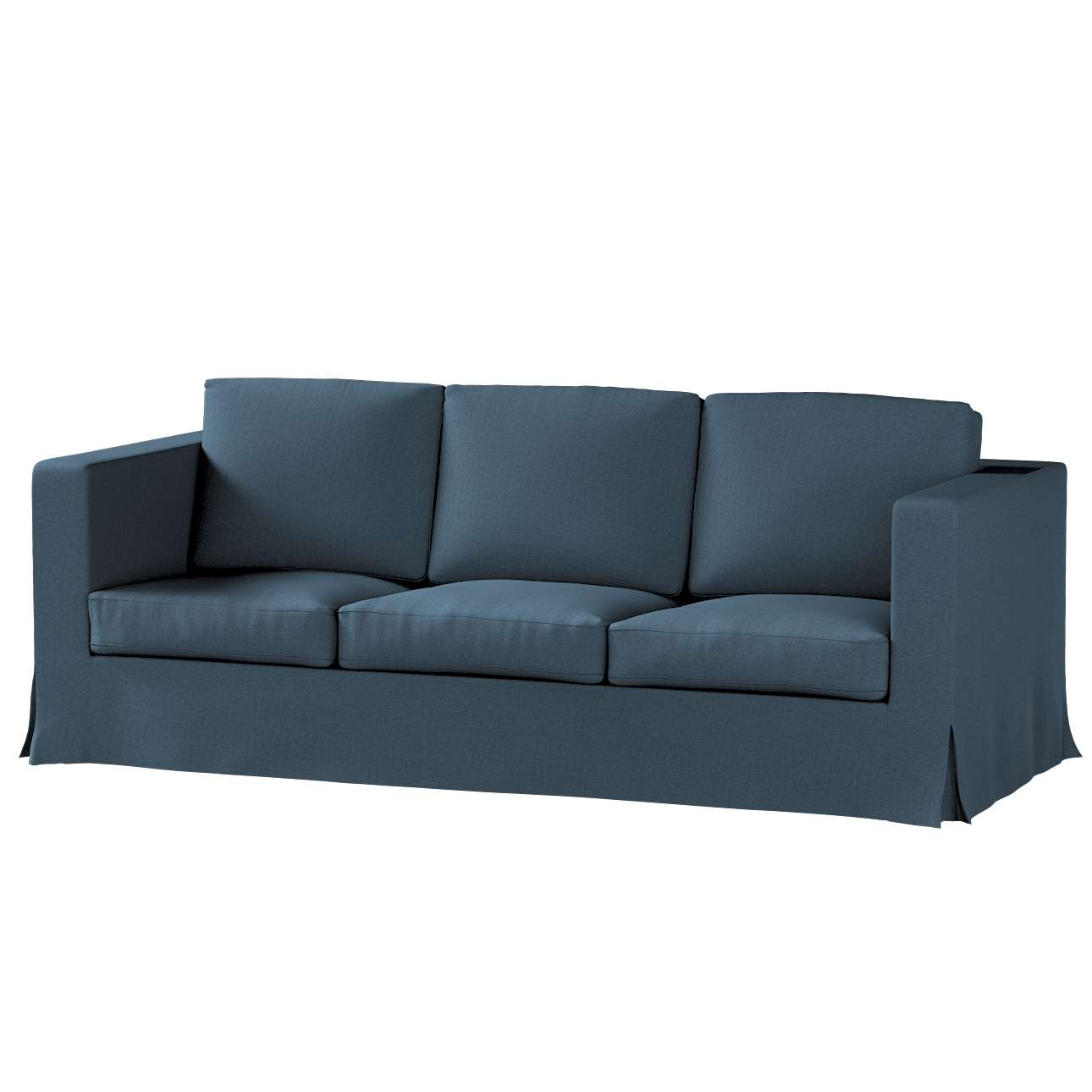 Pokrowiec na sofę Karlanda 3-osobową nierozkładaną, długi w kolekcji Etna, tkanina: 705-30