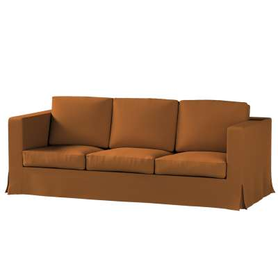 Potah na pohovku IKEA  Karlanda 3-místná nerozkládací, dlouhý 161-28 karamelová Kolekce Living II