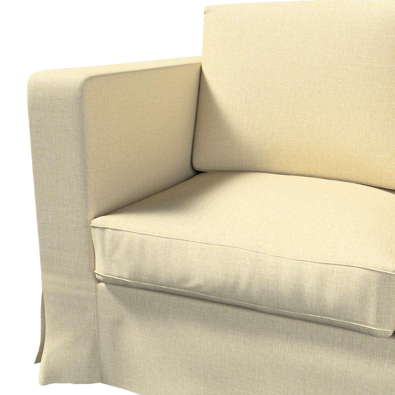 Pokrowiec na sofę Karlanda 3-osobową nierozkładaną, długi w kolekcji Living, tkanina: 161-45