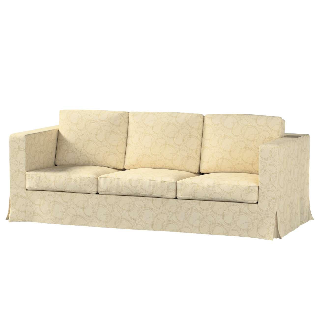 Pokrowiec na sofę Karlanda 3-osobową nierozkładaną, długi w kolekcji Living, tkanina: 161-81