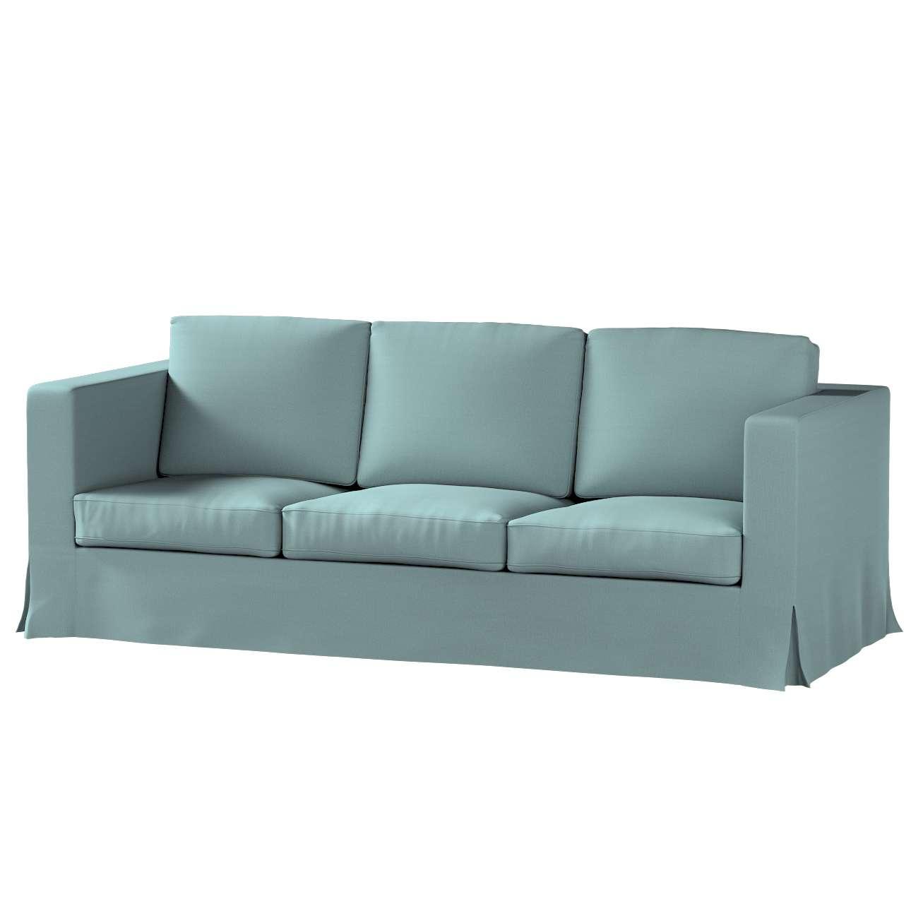 Bezug für Karlanda 3-Sitzer Sofa nicht ausklappbar, lang von der Kollektion Cotton Panama, Stoff: 702-40