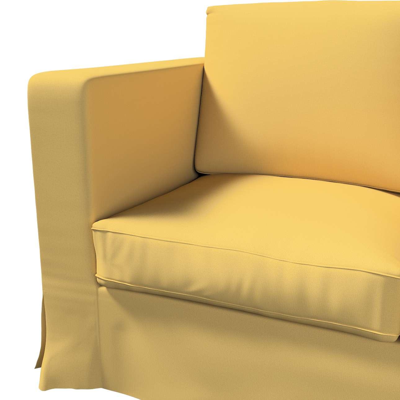Pokrowiec na sofę Karlanda 3-osobową nierozkładaną, długi w kolekcji Cotton Panama, tkanina: 702-41