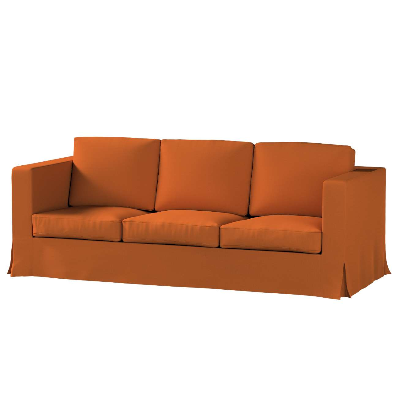 Bezug für Karlanda 3-Sitzer Sofa nicht ausklappbar, lang von der Kollektion Cotton Panama, Stoff: 702-42