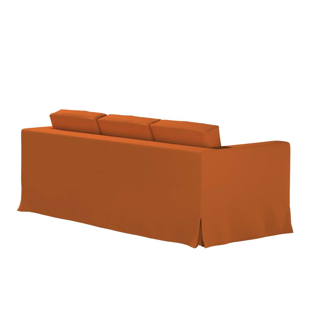 Pokrowiec na sofę Karlanda 3-osobową nierozkładaną, długi w kolekcji Cotton Panama, tkanina: 702-42