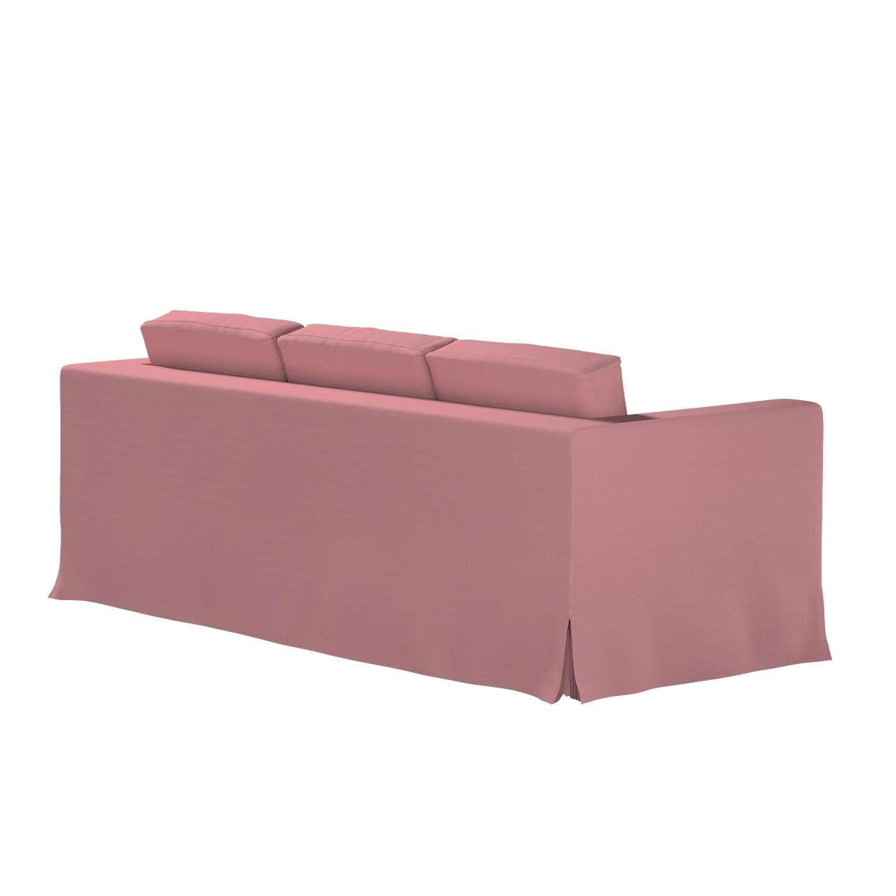 Pokrowiec na sofę Karlanda 3-osobową nierozkładaną, długi w kolekcji Cotton Panama, tkanina: 702-43