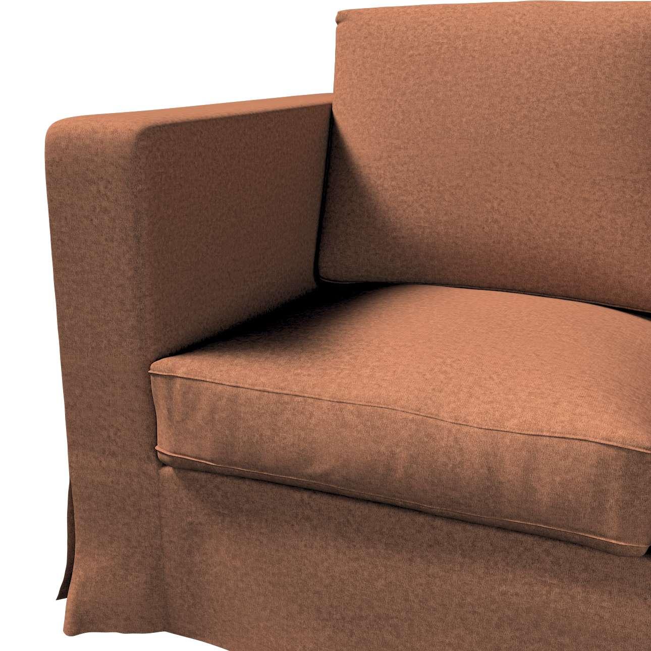 Pokrowiec na sofę Karlanda 3-osobową nierozkładaną, długi w kolekcji Living, tkanina: 161-65