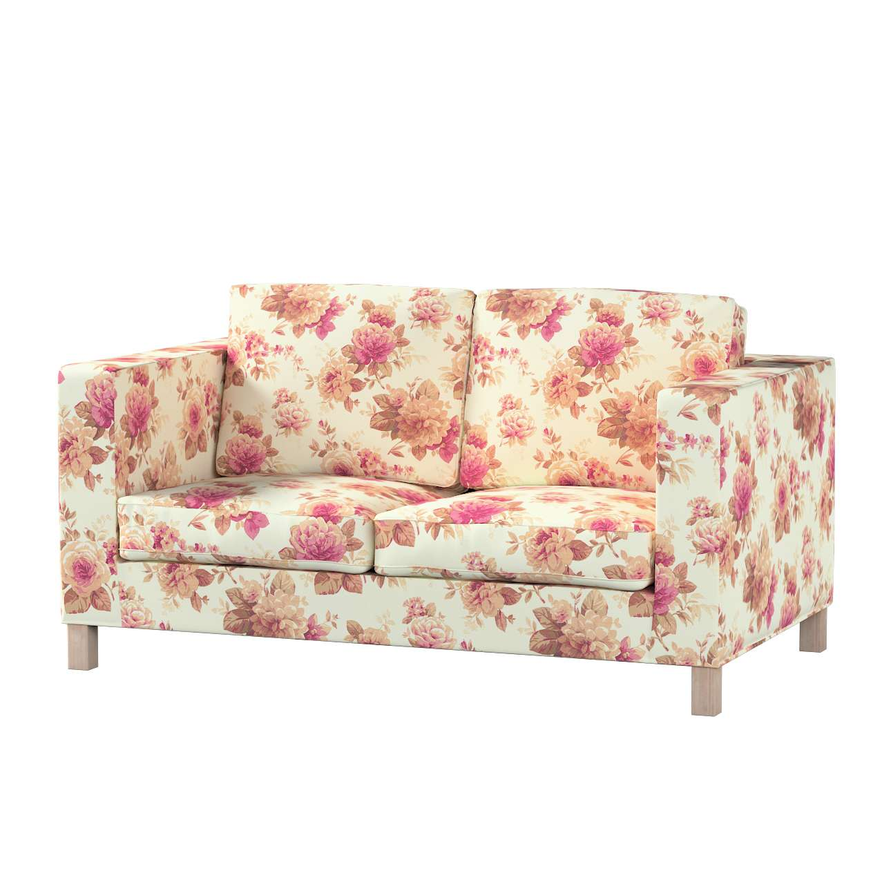 Karlanda klädsel<br>2-sits soffa - kort klädsel i kollektionen Londres, Tyg: 141-06