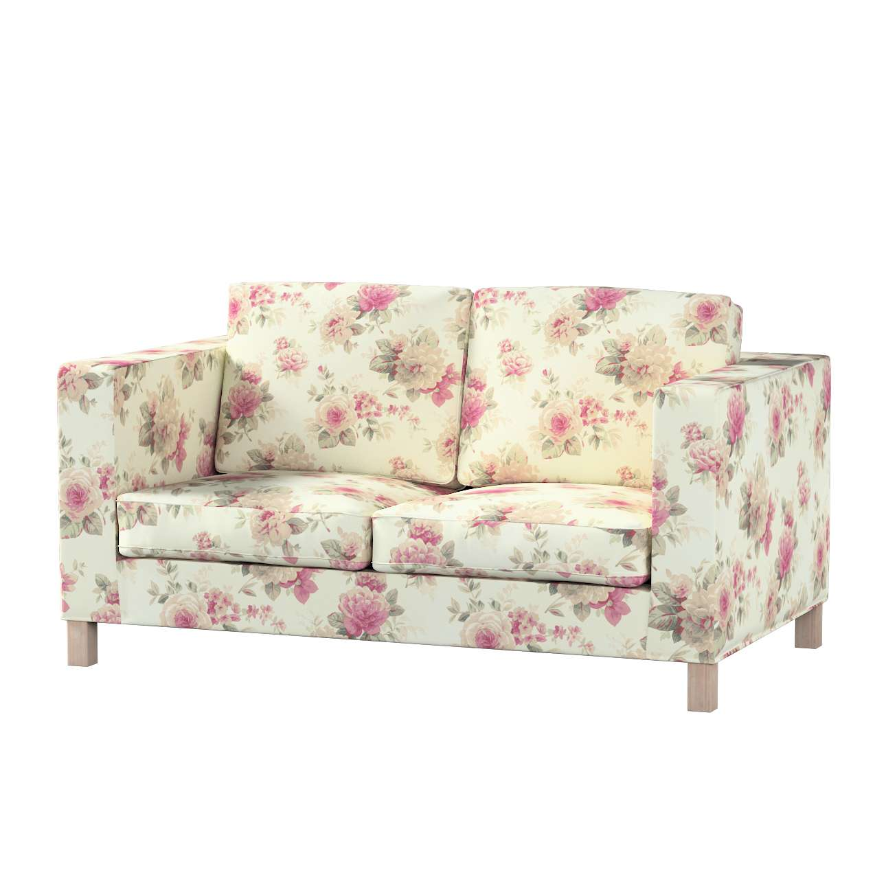 Pokrowiec na sofę Karlanda 2-osobową nierozkładaną, krótki Sofa Karlanda 2-os w kolekcji Mirella, tkanina: 141-07