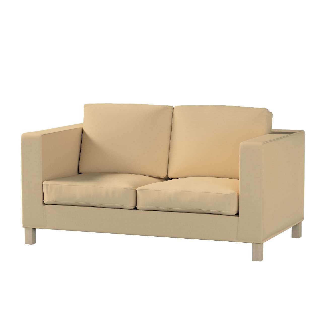 Pokrowiec na sofę Karlanda 2-osobową nierozkładaną, krótki Sofa Karlanda 2-os w kolekcji Cotton Panama, tkanina: 702-01
