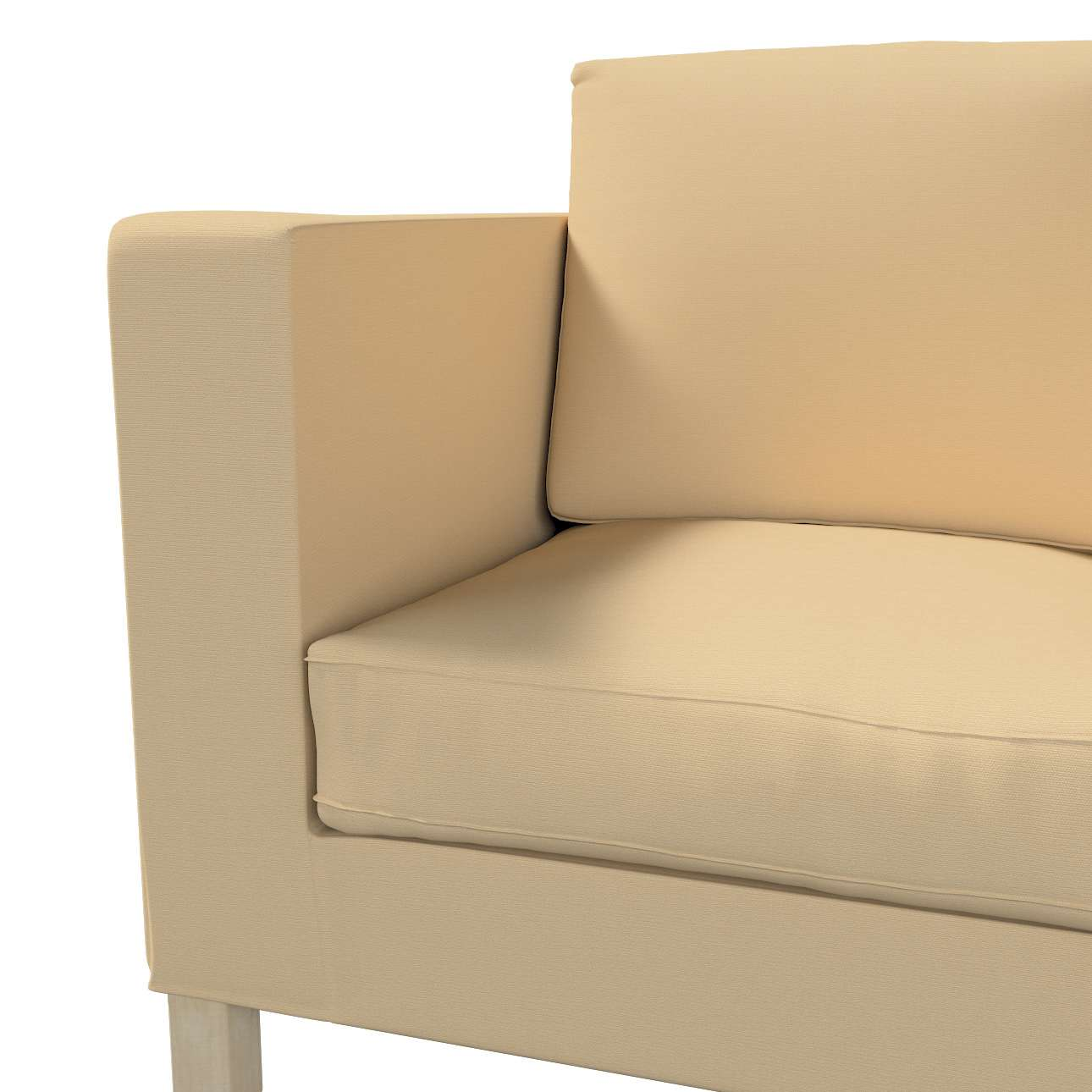 Pokrowiec na sofę Karlanda 2-osobową nierozkładaną, krótki w kolekcji Cotton Panama, tkanina: 702-01