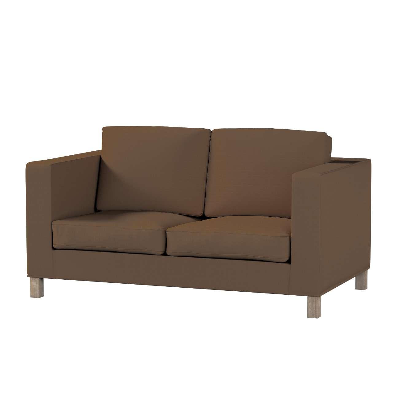 Pokrowiec na sofę Karlanda 2-osobową nierozkładaną, krótki Sofa Karlanda 2-os w kolekcji Cotton Panama, tkanina: 702-02