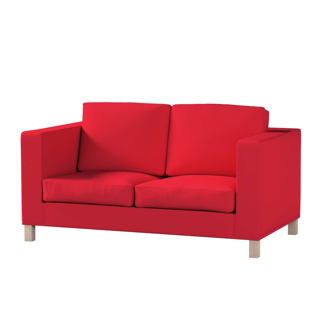 Pokrowiec na sofę Karlanda 2-osobową nierozkładaną, krótki Sofa Karlanda 2-os w kolekcji Cotton Panama, tkanina: 702-04