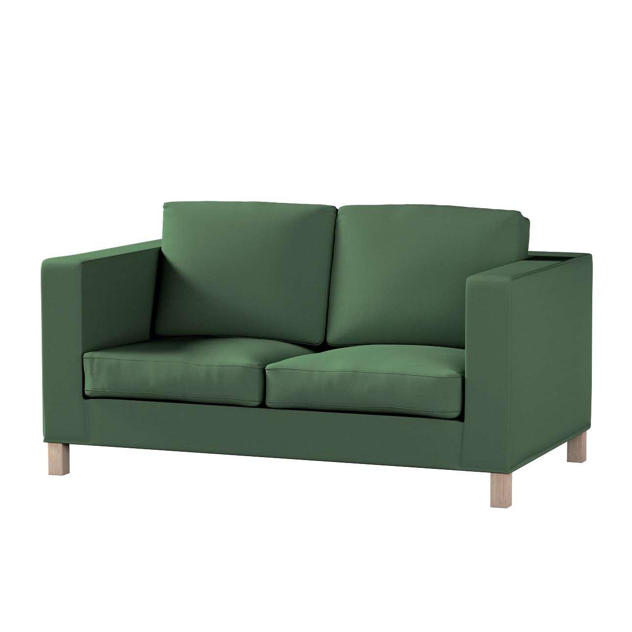 Pokrowiec na sofę Karlanda 2-osobową nierozkładaną, krótki Sofa Karlanda 2-os w kolekcji Cotton Panama, tkanina: 702-06