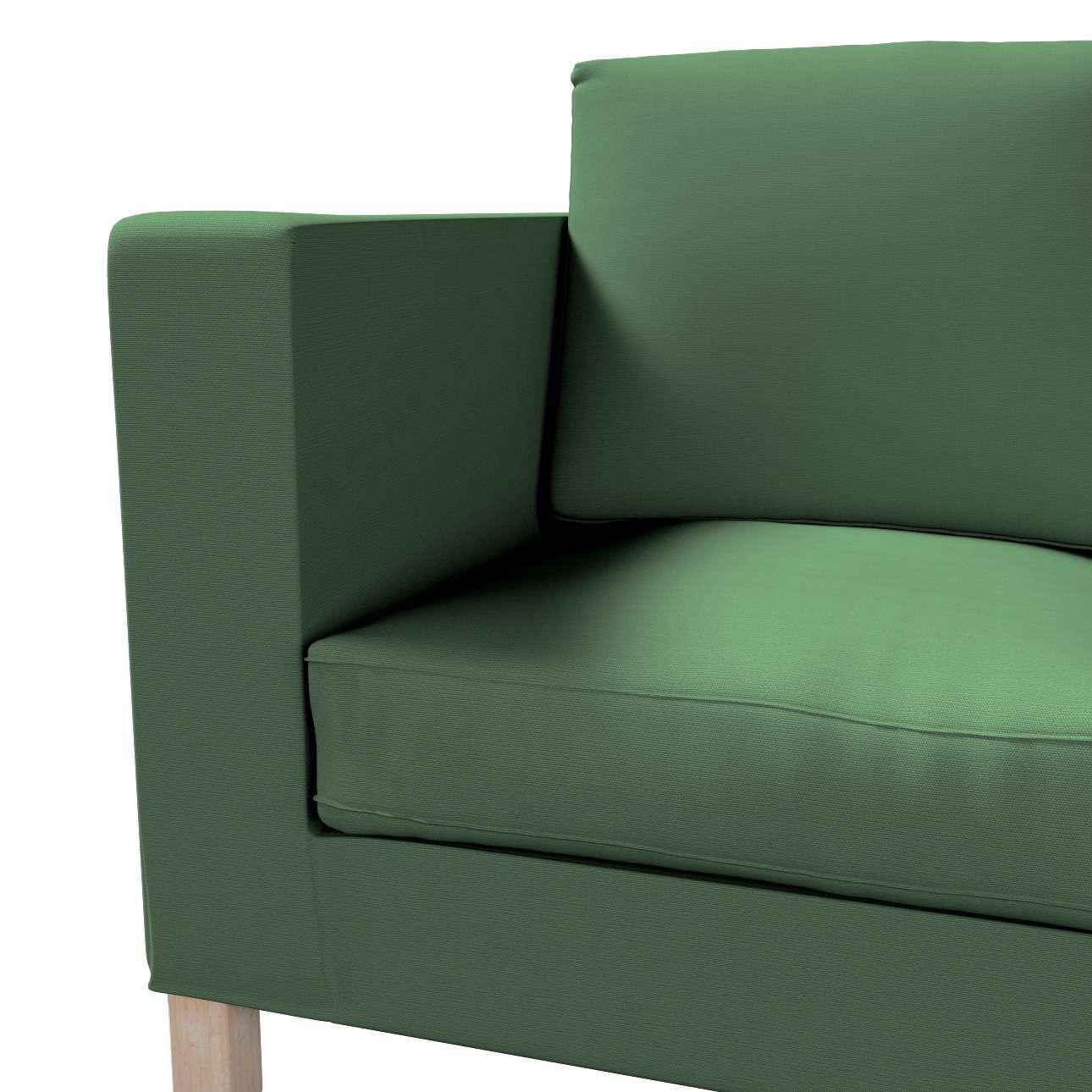 Pokrowiec na sofę Karlanda 2-osobową nierozkładaną, krótki w kolekcji Cotton Panama, tkanina: 702-06