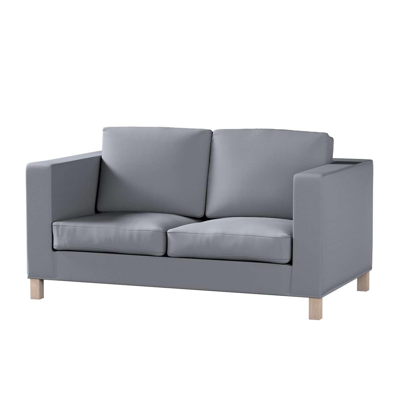 Bezug für Karlanda 2-Sitzer Sofa nicht ausklappbar, kurz von der Kollektion Cotton Panama, Stoff: 702-07