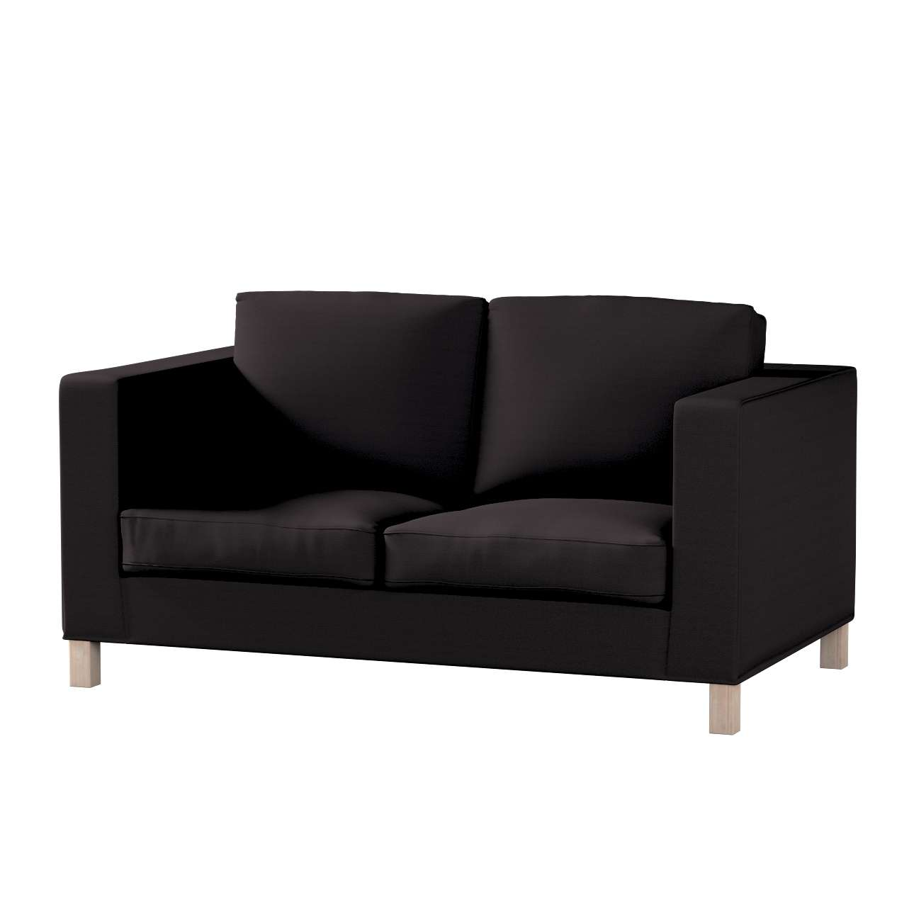 Bezug für Karlanda 2-Sitzer Sofa nicht ausklappbar, kurz von der Kollektion Cotton Panama, Stoff: 702-08