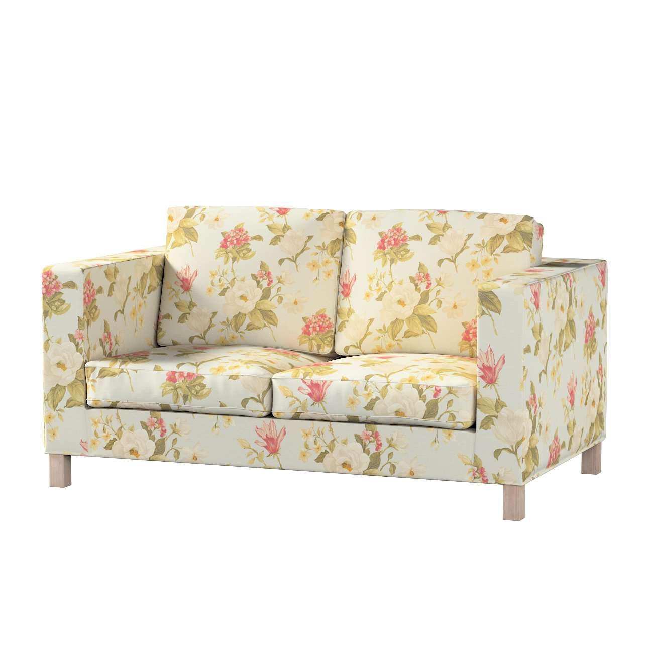 Karlanda 2-Sitzer Sofabezug nicht ausklappbar kurz Karlanda 2-Sitzer von der Kollektion Londres, Stoff: 123-65