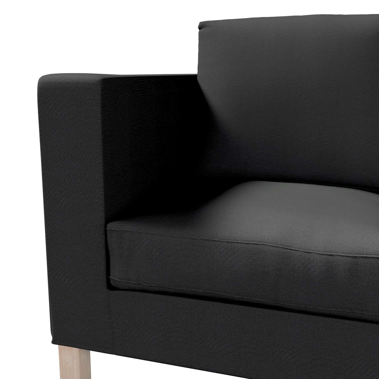 Pokrowiec na sofę Karlanda 2-osobową nierozkładaną, krótki w kolekcji Etna, tkanina: 705-00