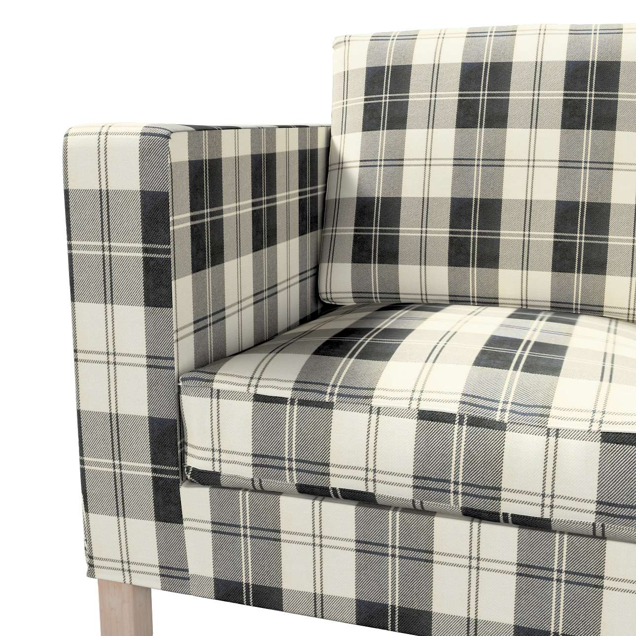 Huzat Karlanda 2-üléses kanapéra, nem kinyitható, rövid a kollekcióból Edinburgh Bútorszövet, Dekoranyag: 115-74