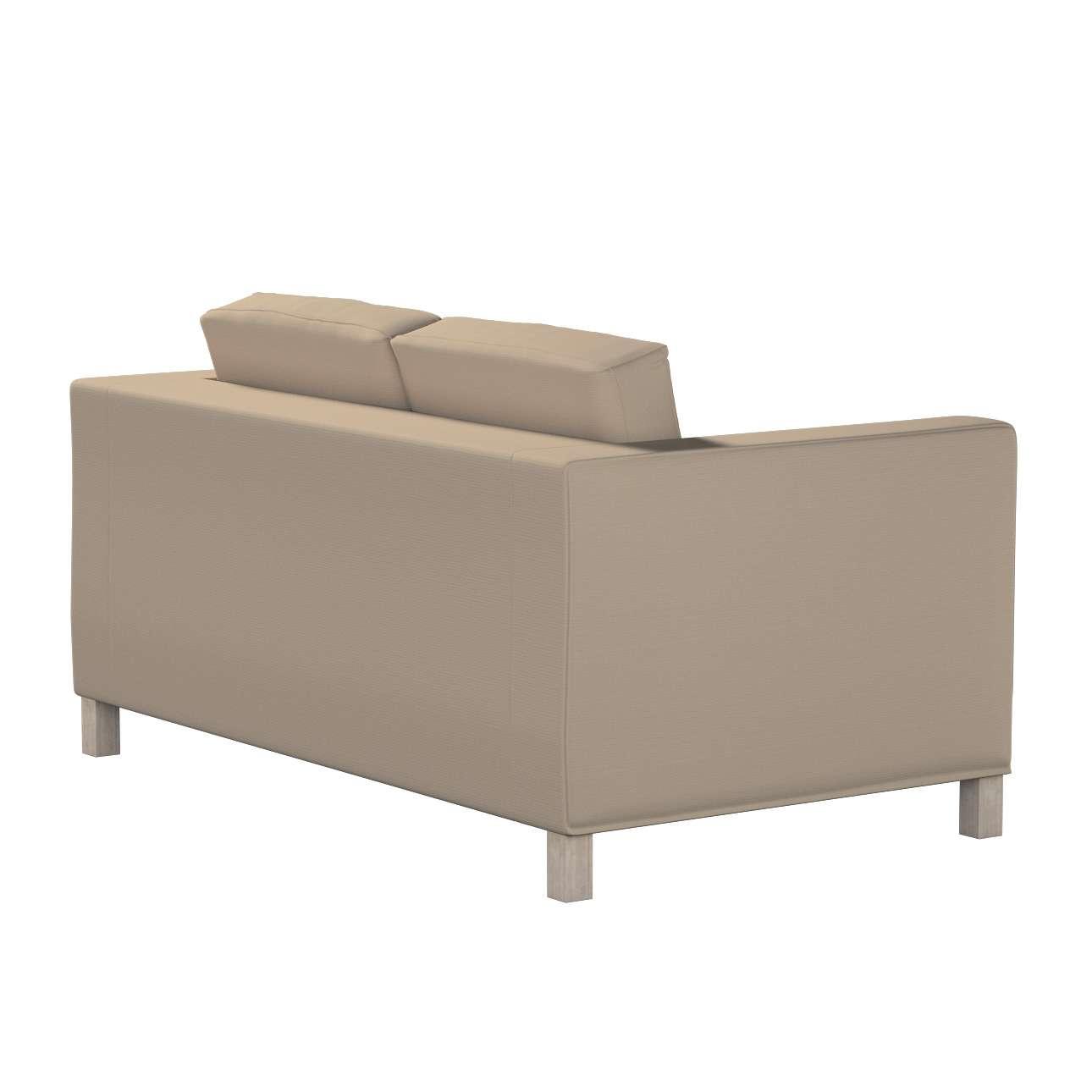 Karlanda 2-Sitzer Sofabezug nicht ausklappbar kurz von der Kollektion Cotton Panama, Stoff: 702-28