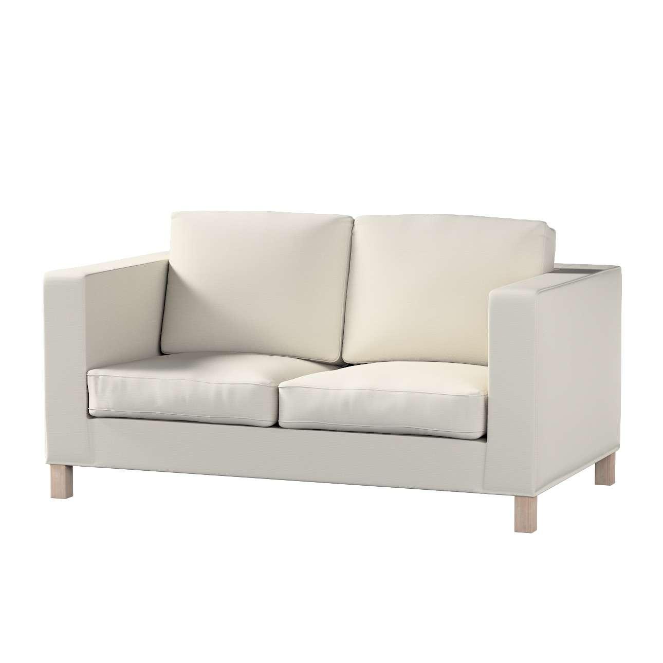Pokrowiec na sofę Karlanda 2-osobową nierozkładaną, krótki Sofa Karlanda 2-os w kolekcji Cotton Panama, tkanina: 702-31