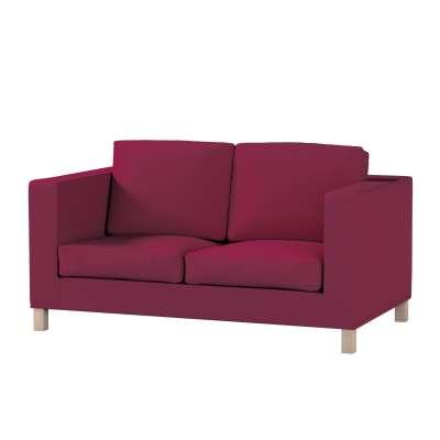 Bezug für Karlanda 2-Sitzer Sofa nicht ausklappbar, kurz von der Kollektion Cotton Panama, Stoff: 702-32