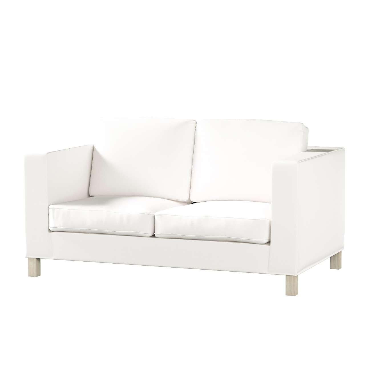 Bezug für Karlanda 2-Sitzer Sofa nicht ausklappbar, kurz von der Kollektion Cotton Panama, Stoff: 702-34