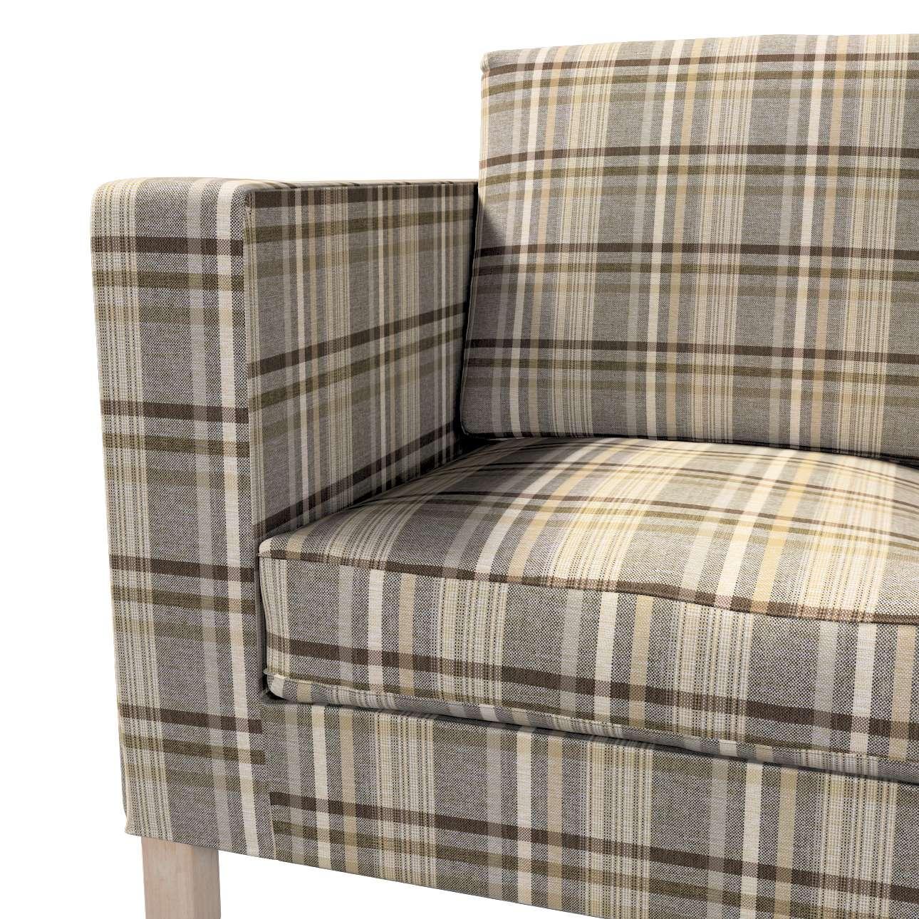 Pokrowiec na sofę Karlanda 2-osobową nierozkładaną, krótki w kolekcji Edinburgh, tkanina: 703-17