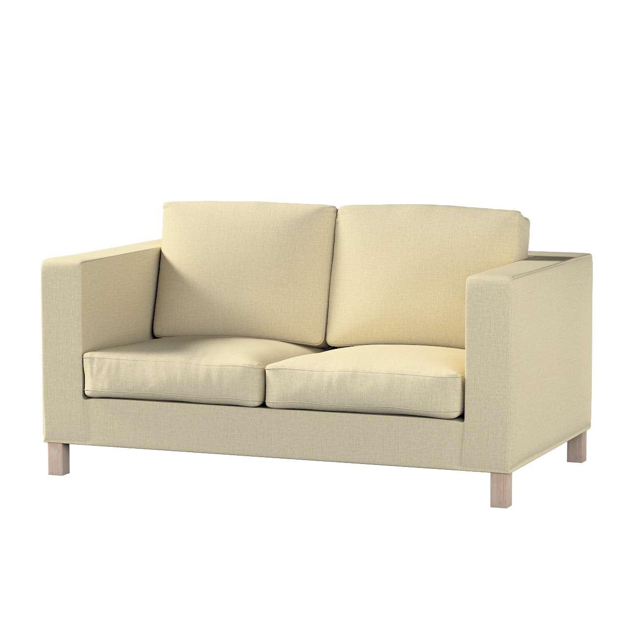 Pokrowiec na sofę Karlanda 2-osobową nierozkładaną, krótki w kolekcji Living, tkanina: 161-45