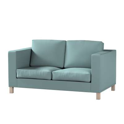 Bezug für Karlanda 2-Sitzer Sofa nicht ausklappbar, kurz von der Kollektion Cotton Panama, Stoff: 702-40