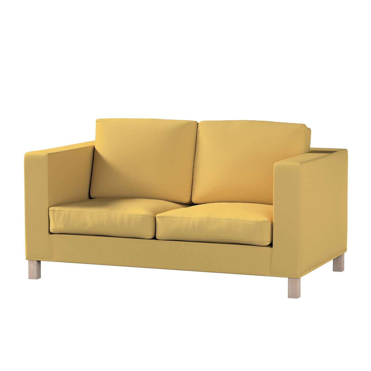 Bezug für Karlanda 2-Sitzer Sofa nicht ausklappbar, kurz von der Kollektion Cotton Panama, Stoff: 702-41
