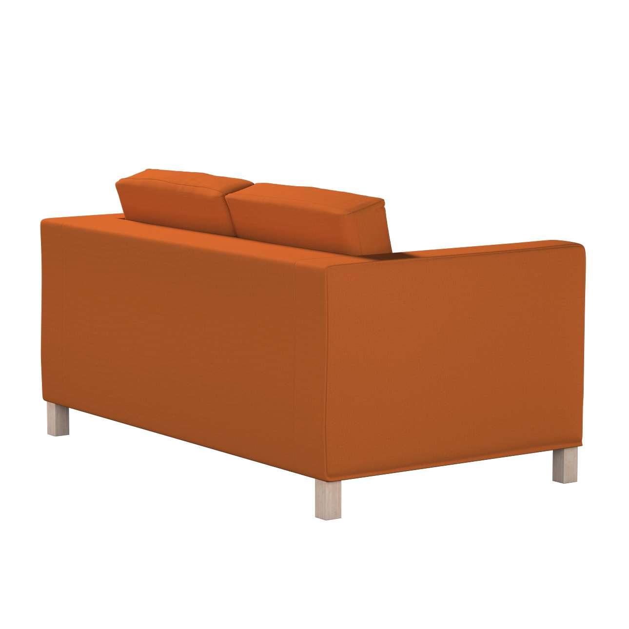 Pokrowiec na sofę Karlanda 2-osobową nierozkładaną, krótki w kolekcji Cotton Panama, tkanina: 702-42