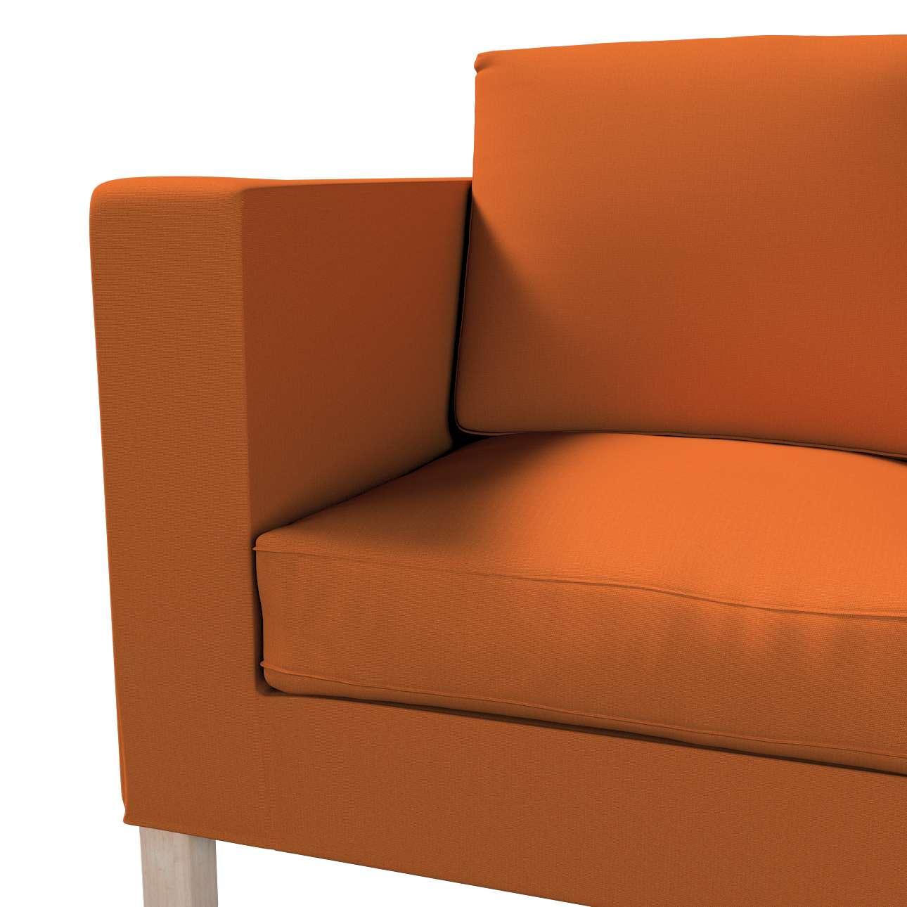 Karlanda klädsel<br>2-sits soffa - kort klädsel i kollektionen Panama Cotton, Tyg: 702-42