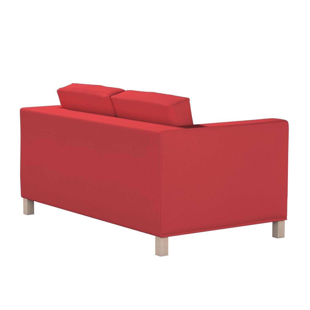 Pokrowiec na sofę Karlanda 2-osobową nierozkładaną, krótki w kolekcji Living, tkanina: 161-56