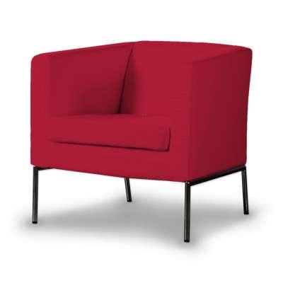 Potah na křeslo IKEA Klappsta, krátký 702-04 Scarlet Red - červená Kolekce Cotton Panama