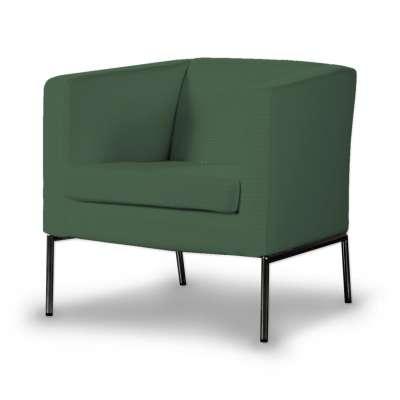 KLAPPSTA fotelio užvalkalas 702-06 tamsiai žalia (alyvuogių spalvos) Kolekcija Cotton Panama