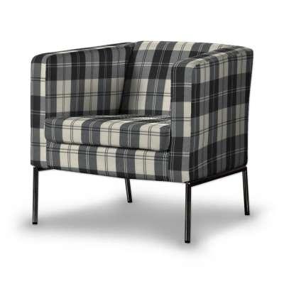 KLAPPSTA fotelio užvalkalas 115-74 juodi ir šviesūs kvadratai Kolekcija Edinburgh