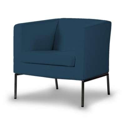 KLAPPSTA fotelio užvalkalas 702-30 tamsiai mėlyna Kolekcija Cotton Panama