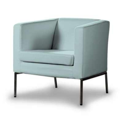 KLAPPSTA fotelio užvalkalas 702-10 pastelinė mėlyna Kolekcija Cotton Panama