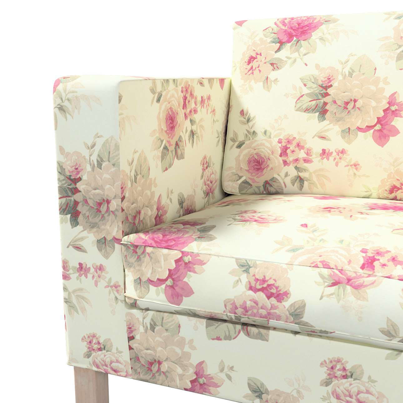 Pokrowiec na sofę Karlanda rozkładaną, krótki w kolekcji Londres, tkanina: 141-07