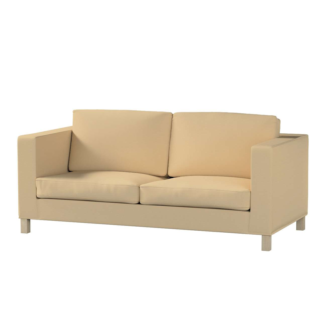 Pokrowiec na sofę Karlanda rozkładaną, krótki Sofa Karlanda rozkładana w kolekcji Cotton Panama, tkanina: 702-01