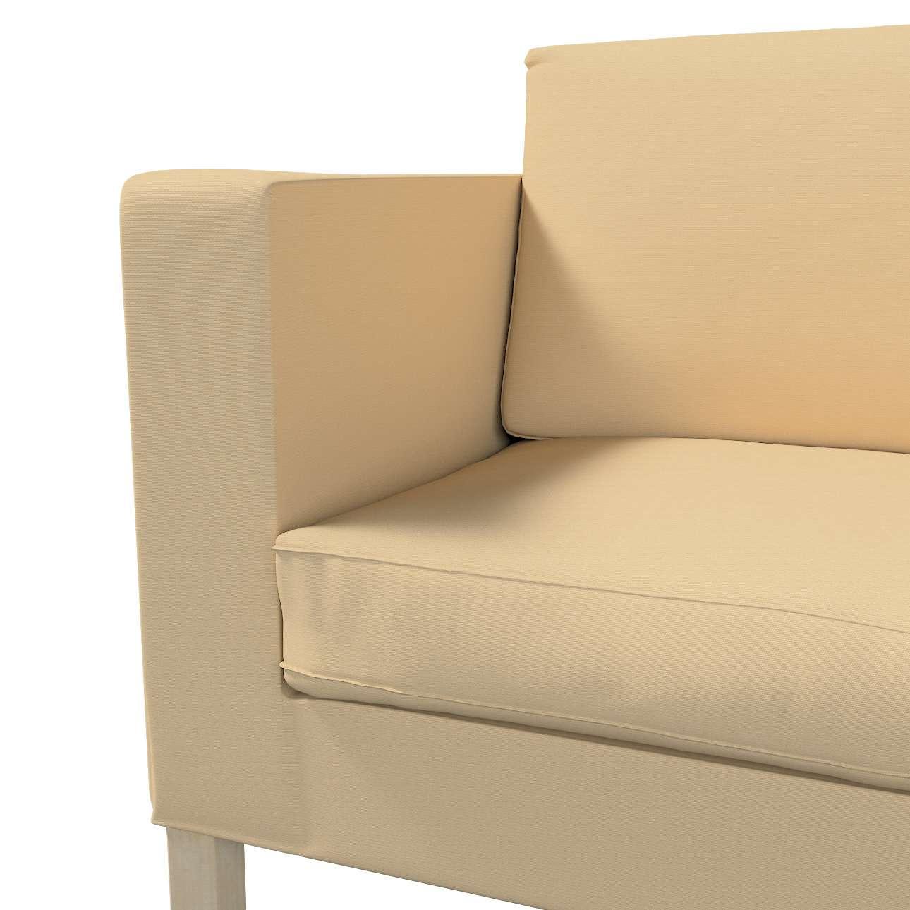 Pokrowiec na sofę Karlanda rozkładaną, krótki w kolekcji Cotton Panama, tkanina: 702-01
